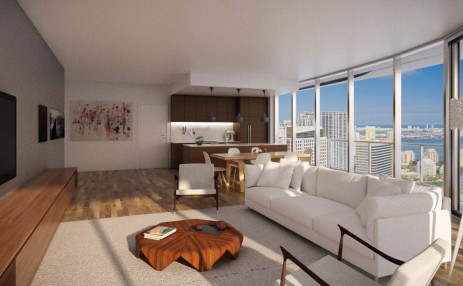 Brickell Heights Living room and Kitchen