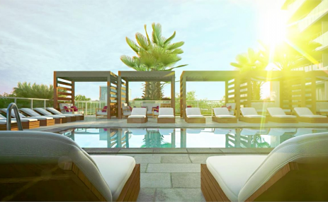 Pool and Cabanas  - Pure Residence