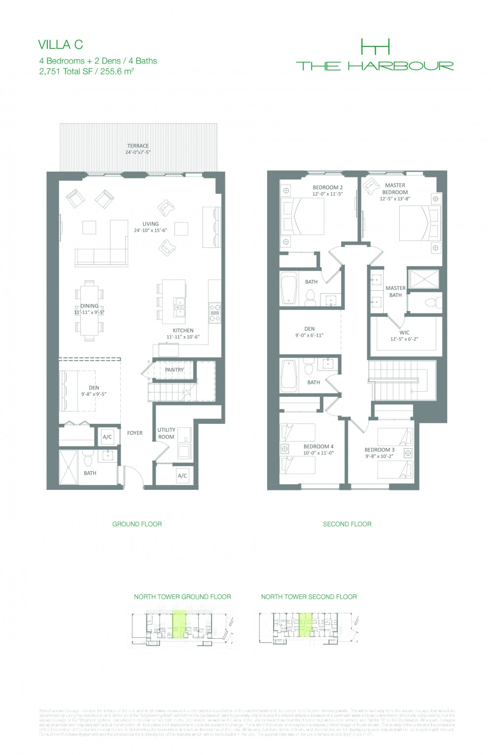 Floor Plan Model Villac Line04 Atthe Harbour North Miami Beach