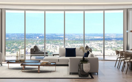 Living Room - 100 East Las Olas