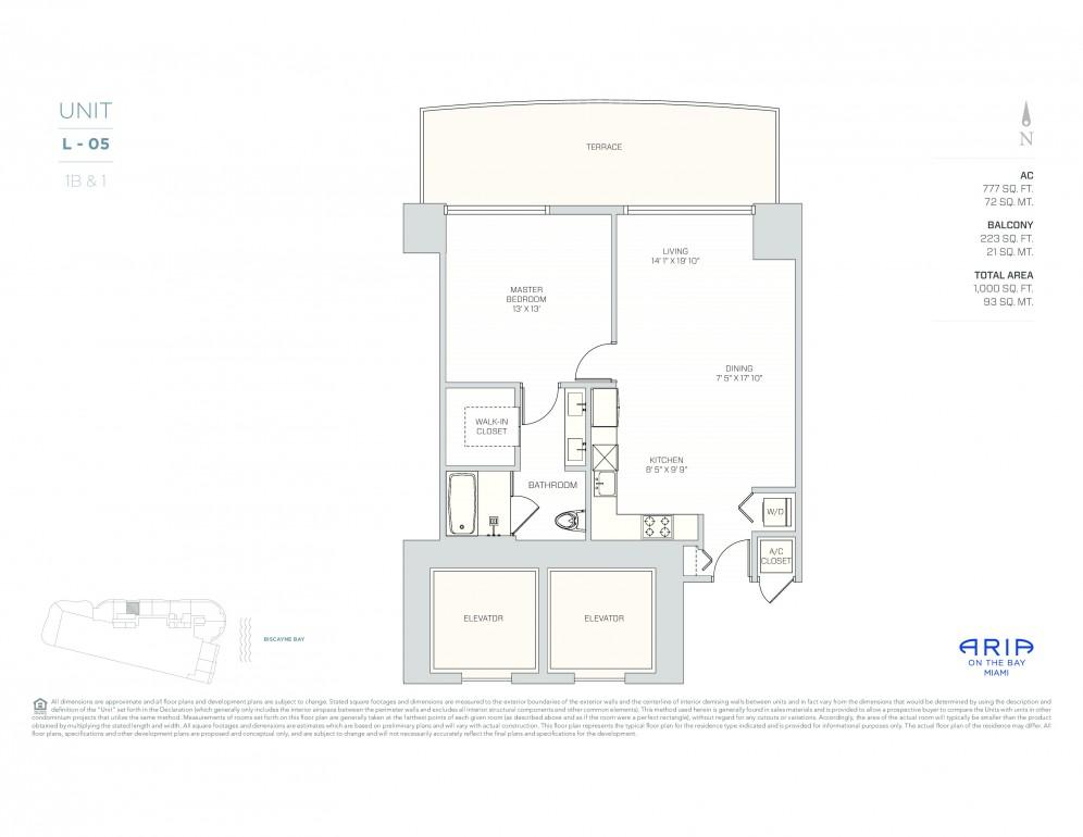Floor Plan Model L Pod Line05 Ataria On The Bay Miami