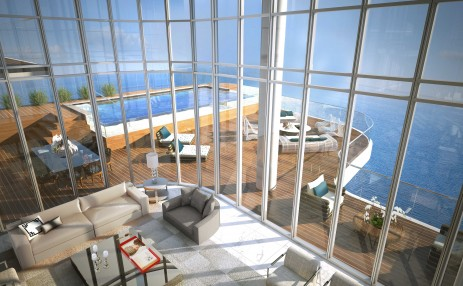 Penthouse  Living and Balcony
