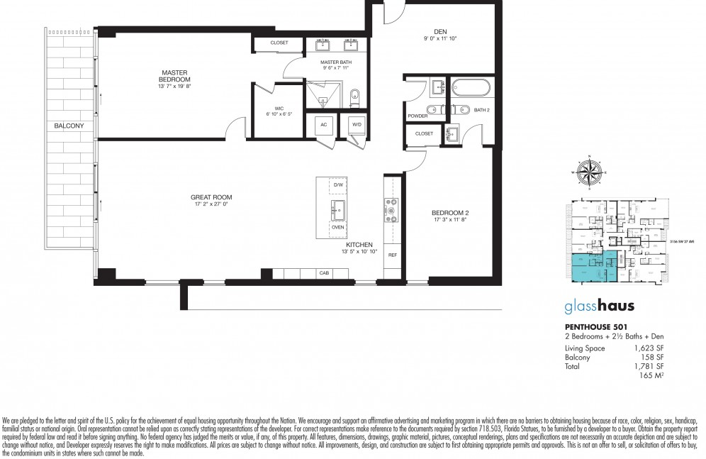 Floor plan model 501 line501 atglasshaus in the grove miami for 501 plan