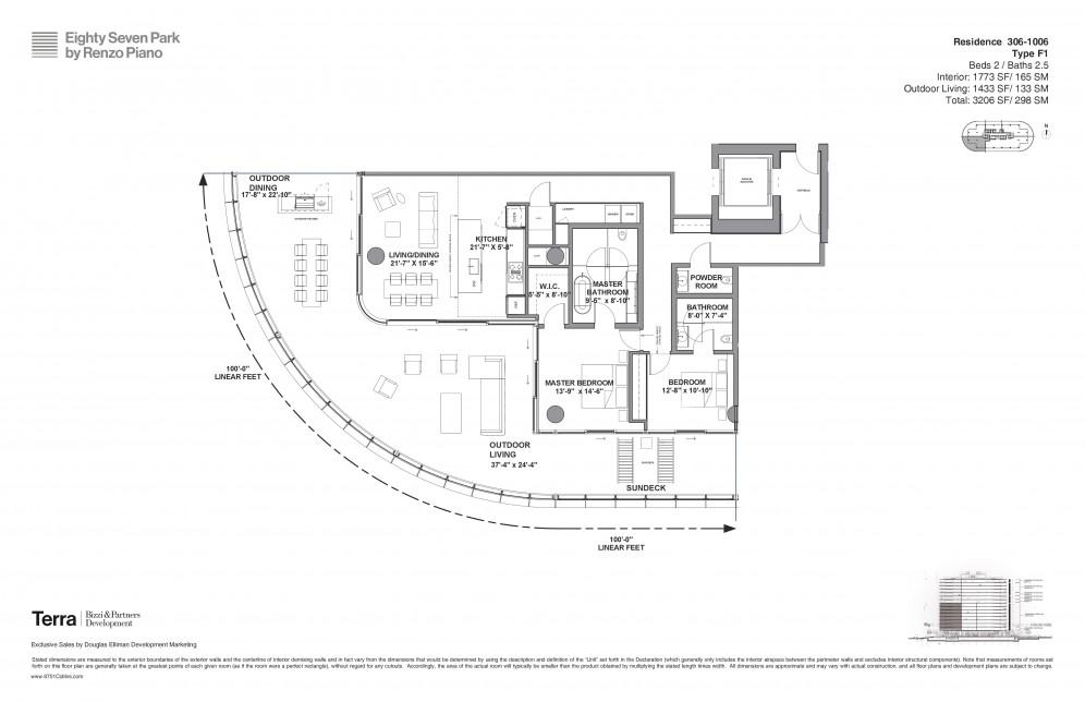 Floor Plan Model F48 Line48 AtEIGHTY SEVEN PARK 48 Park Surfside Adorable Outdoor Bathroom Plans Model