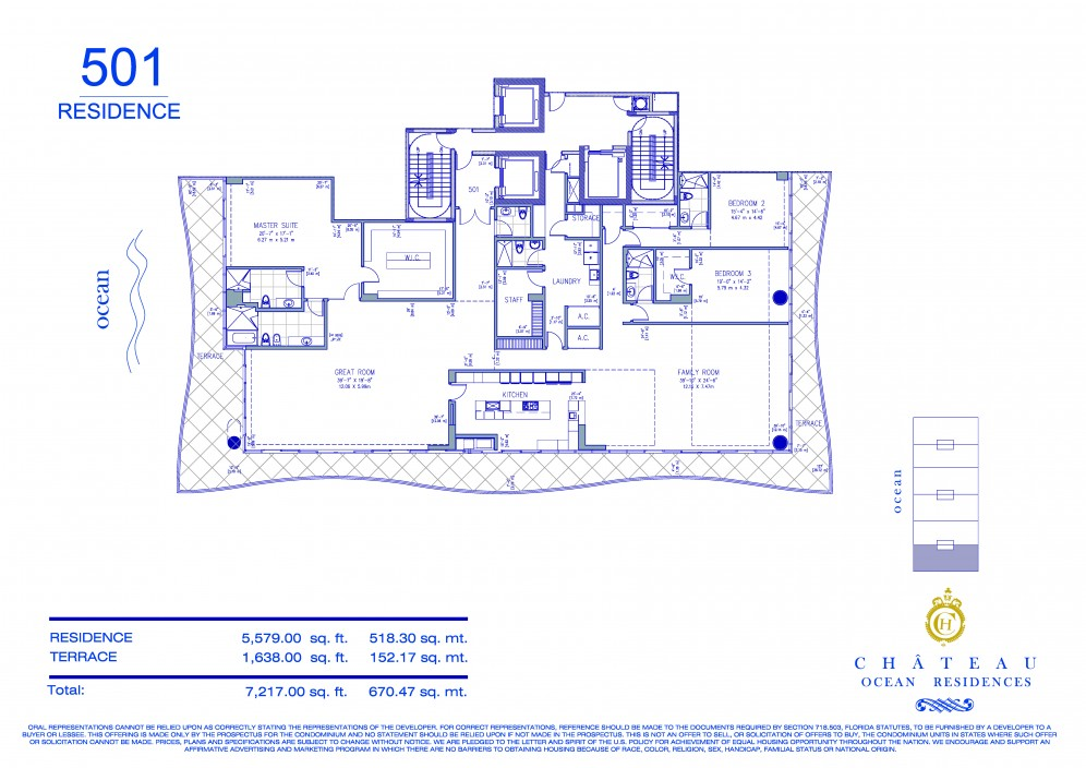 Floor plan model 501 line01 atfendi chateau surfside for 501 plan