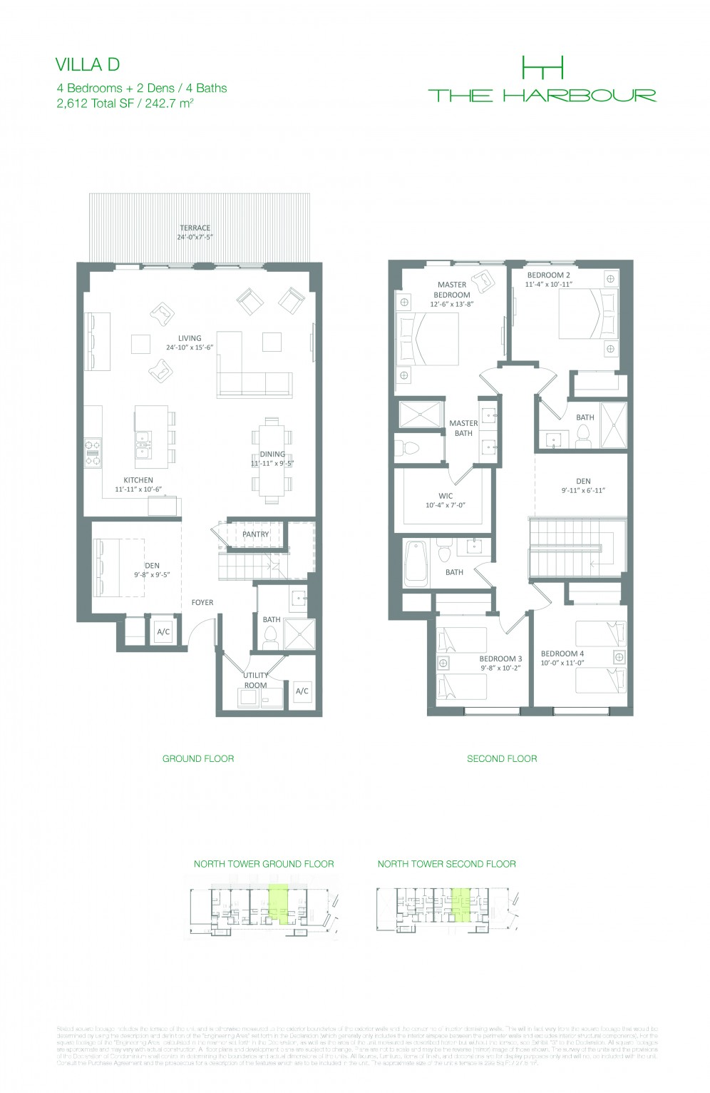 Floor Plan Model Villad Line05 Atthe Harbour North Miami Beach
