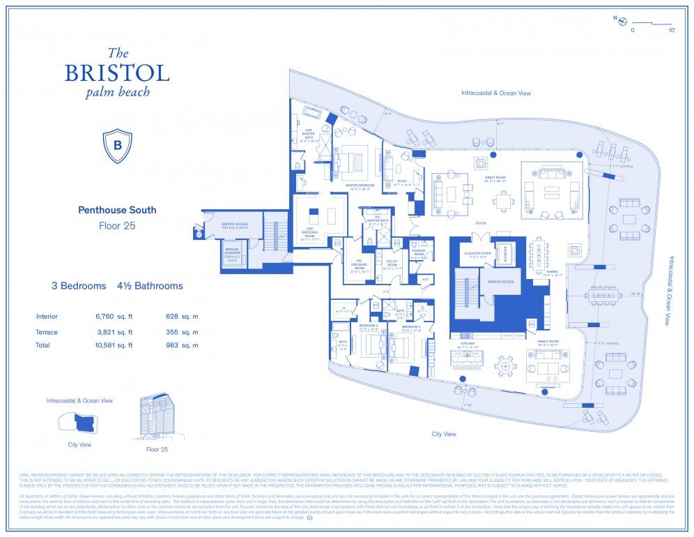Floor Plan Model Phs 3 Linephs Atthe Bristol Palm Beach West Palm Beach