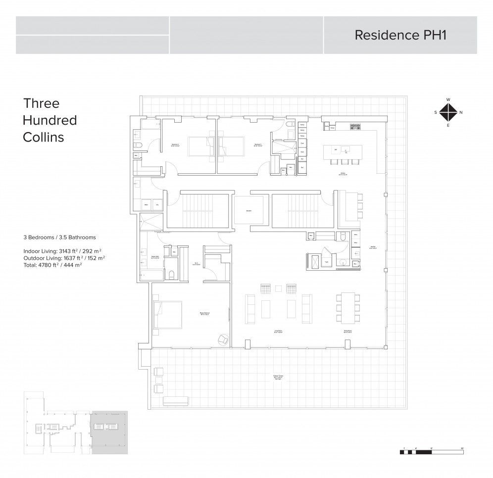 Floor Plan Model Ph 1 At300 Collins  Miami Beach