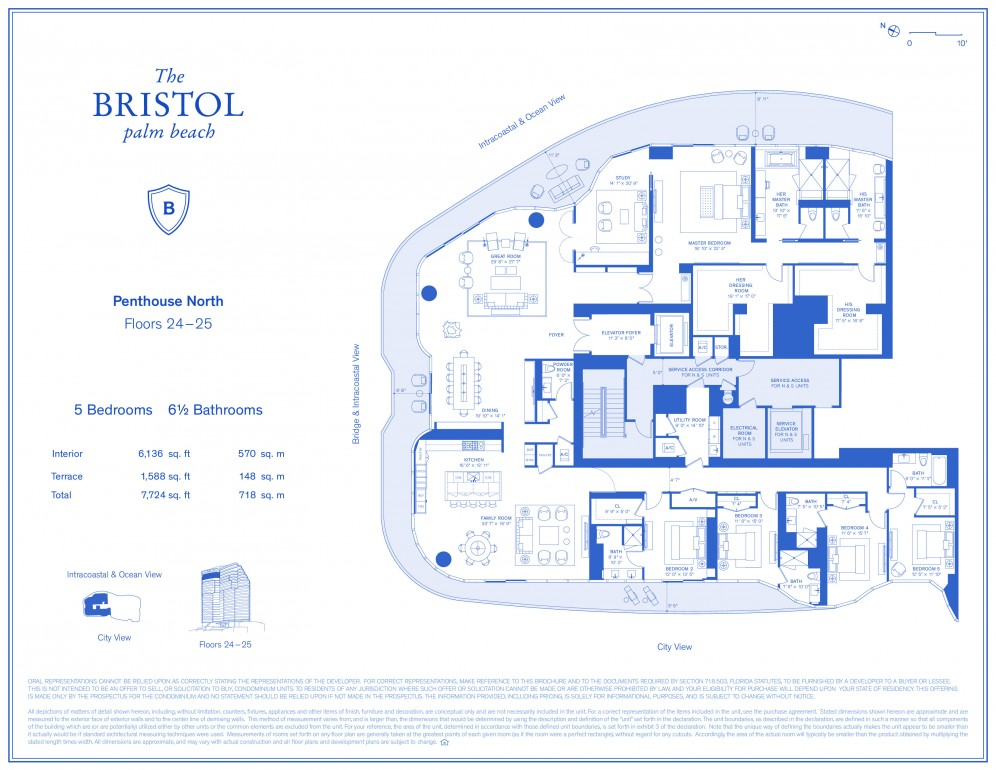 Floor Plan Model Phn 2 Linephn Atthe Bristol Palm Beach West Palm Beach