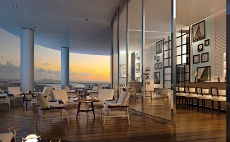Club room terrace - intercoastal - The Ritz-Carlton Residences