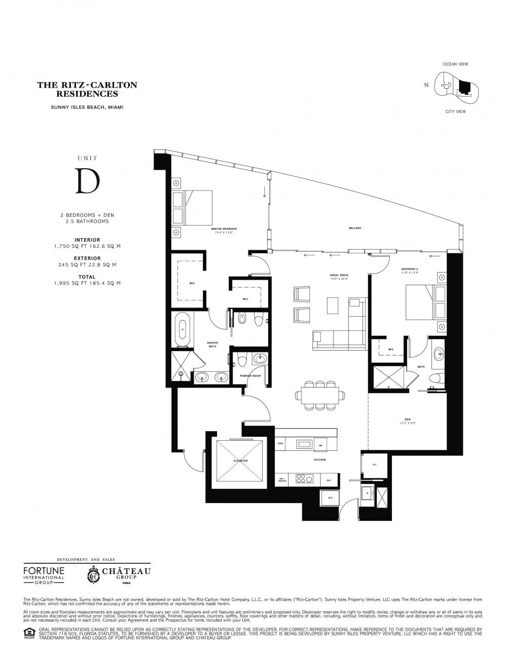 Floor Plan Model D  Line04 Atthe Ritz