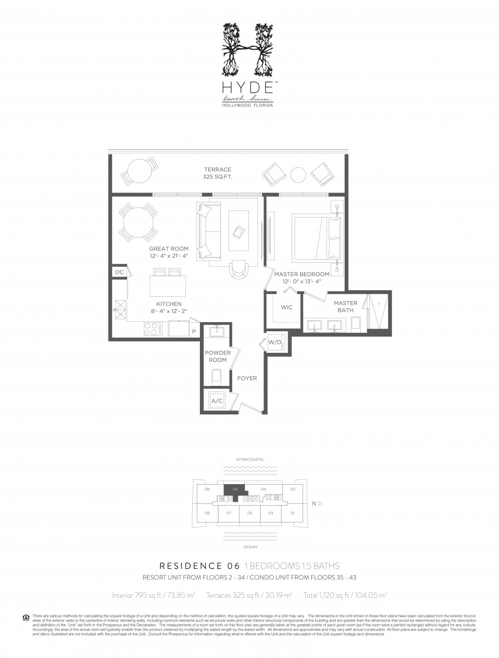 Floor plan model 06res line06 athyde beach house hollywood for Hyde homes floor plans