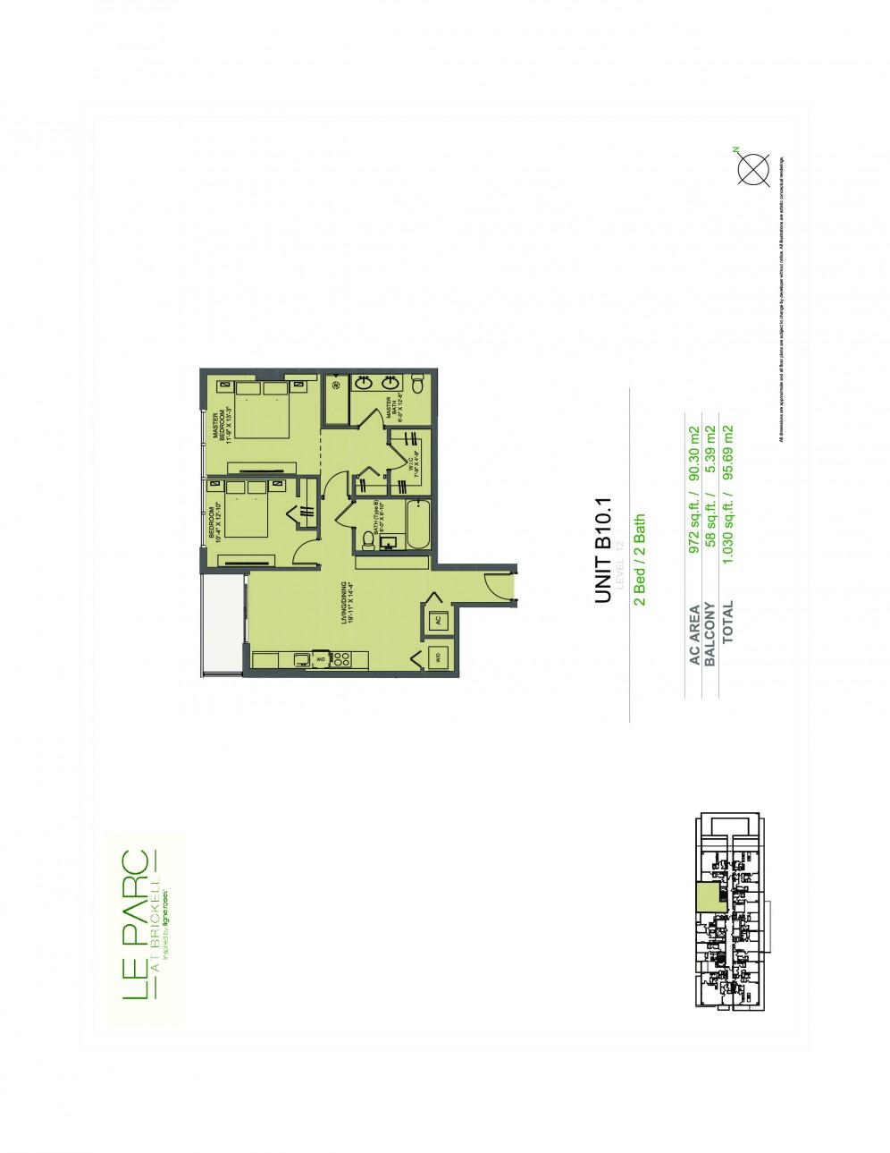 Floor Plan Model B101 Line08 atLe