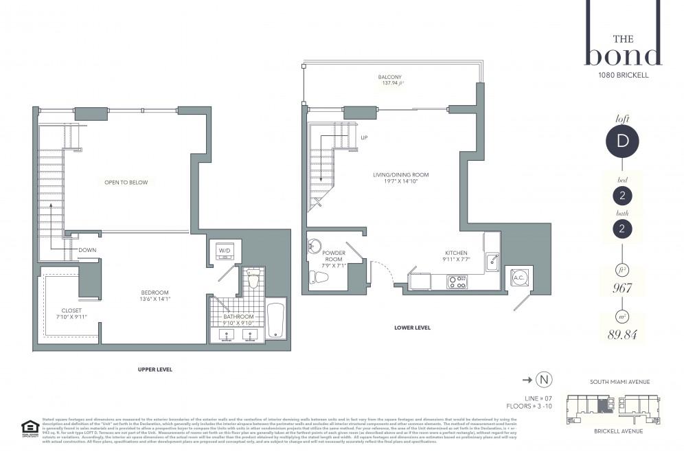 Floor Plan Model Loftd Line07 Atthe Bond Miami
