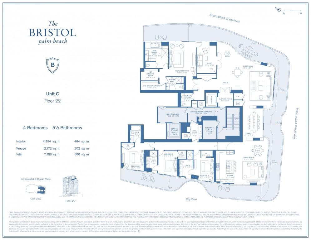 Floor Plan Model C6 Linec Atthe Bristol Palm Beach West Palm Beach
