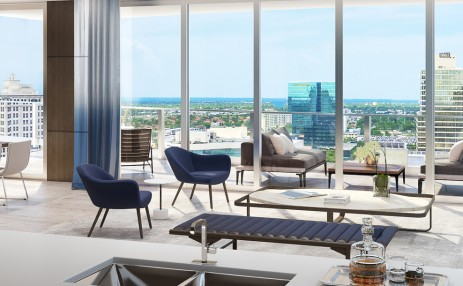 Living Area - 100 East Las Olas